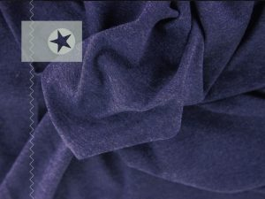 Sweatstoff angeraut uni dunkelblau