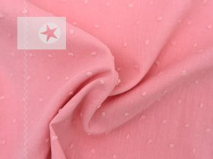 Baumwollstoff Punkte uni rosa