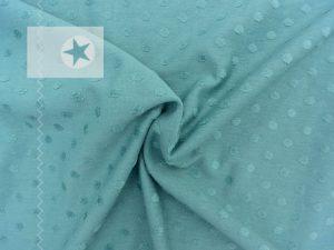 Jersey Stoff Punkte Minky dusty mint