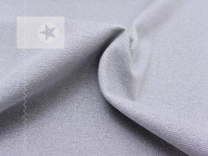 Bündchen Glitzer grau silber