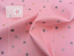 Baumwolle Glitzer Hashtags rosa