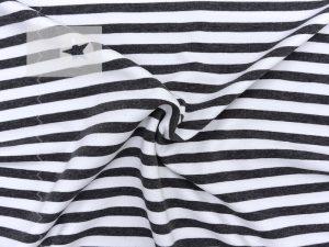 Sweat Stoff Streifen schwarz weiß