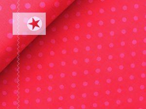 Baumwollstoff Punkte rot pink