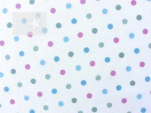 Baumwollstoff Punkte weiß grün rosa