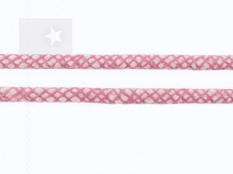 Hoodie Kordel Netzoptik rosa