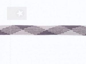 Hoodieband Flachkordel 20 mm grau