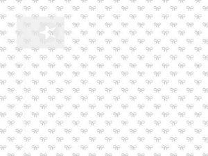 Baumwollstoff mit Schleifen weiß