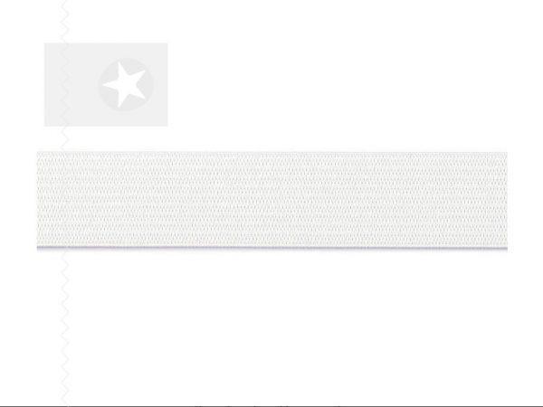 Gummiband breit weiß 3 cm