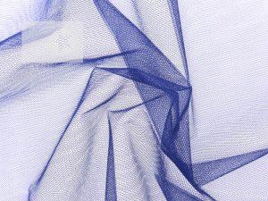 Tüll Stoff blau jeansblau