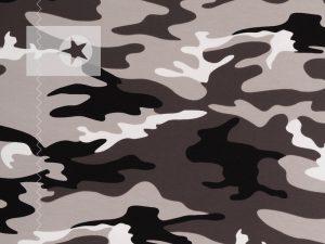 Jersey Stoff Camouflage Jersey grau