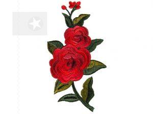 Applikation rote Rose zum Aufbügeln