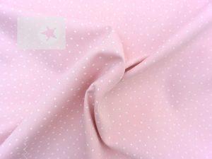 Baumwolle Sterne Sternchen rosa weiß