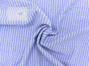 Jeansstoff leicht Streifen blau weiß