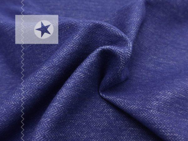 Jeans Jersey Stoff Jacquard Jeansoptik blau