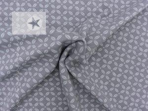 Jersey Stoff Ornamente kleingemustert grau