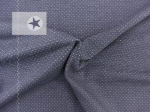 Jersey Stoff Mini Pünktchen grau