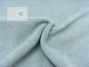 Baumwoll Fleece Stoff uni dusty mint