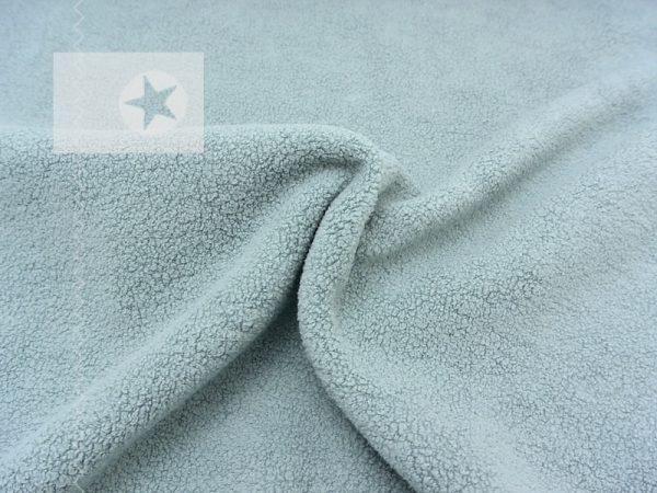 Baumwoll Fleece Stoff uni dusty mint