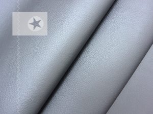 Kunstleder metallic graublau