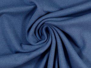 Glatter Bündchenstoff jeansblau