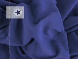 Sweatstoff angeraut uni jeansblau