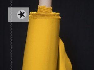 Dry Oilskin Baumwolle gewachst beschichtet yellow