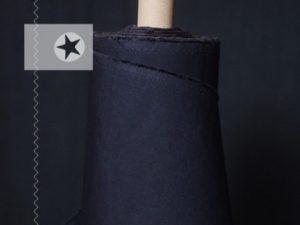 Dry Oilskin Baumwolle gewachst beschichtet navy