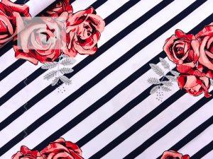 lillestoff Rosen Jersey Streifen