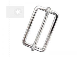 Leiterschnalle 30 mm Metall silber