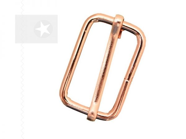 Leiterschnalle 30 mm Metall roségold
