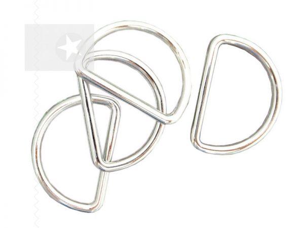 D-Ringe für Taschen 30 mm silber 1 Stück