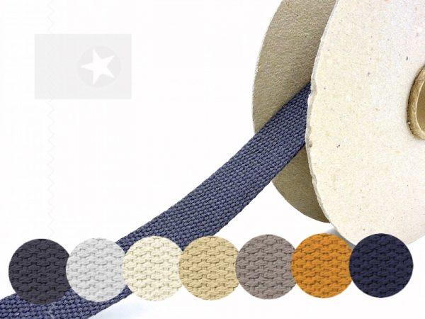 1 m Gurtband Baumwolle 30 mm Meterware