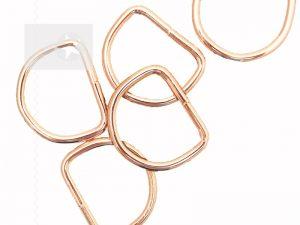 D-Ringe für Taschen 30 mm roségold 1 Stück