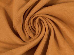 Glatter Bündchenstoff karamell