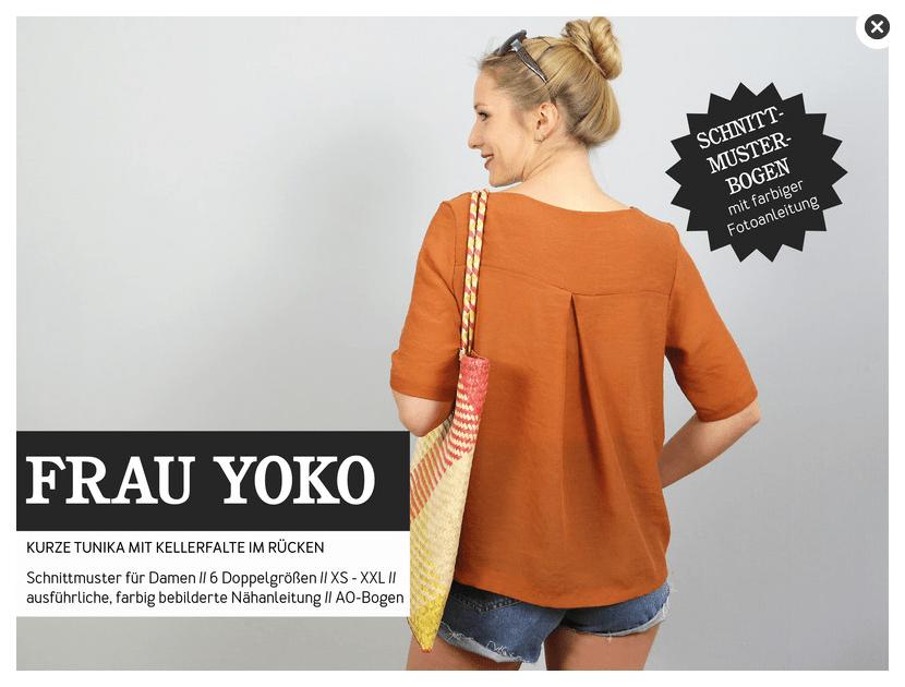 Frau YOKO Papier Schnittmuster Bluse | Stoffe Online Shop | clarasstoffe