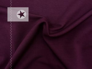 Sweat Stoff Modal Sweat uni bordeaux