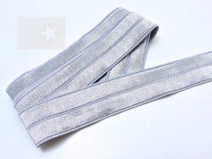 Falzgummi Einfassband elastisch grau silber