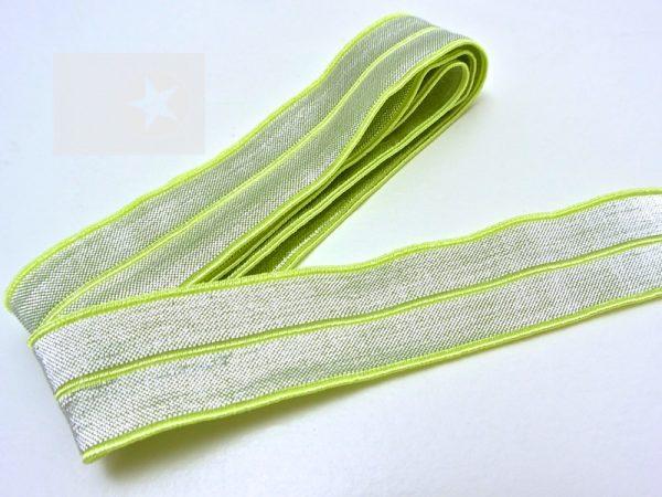 Falzgummi Einfassband elastisch lime silber
