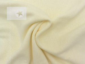 Feiner Strickstoff aus Baumwolle cremeweiß