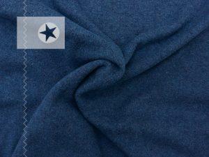Feiner Strickstoff aus Baumwolle jeansblau