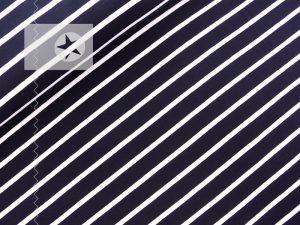 Jersey Blockstreifen dunkelblau weiß