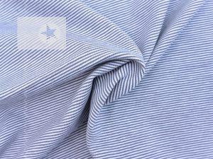 Jersey Streifen Mini Stripes grau weiß