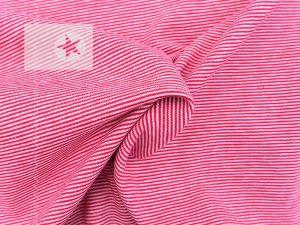 Jersey Streifen Mini Stripes rot weiß