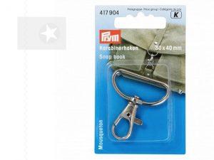 PRYM Karabiner für Taschen 30 mm silber