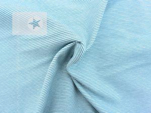 Jersey Streifen Mini Stripes mint weiß