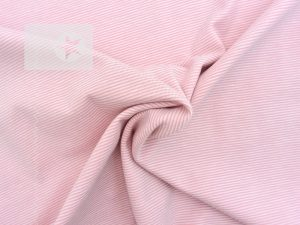 Jersey Streifen Mini Stripes rosa weiß