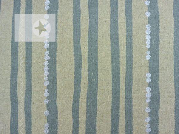 KOKKA Canvas Echino Streifen grau silber