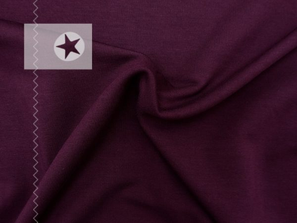 Stoffmuster Modal Sweat uni bordeaux