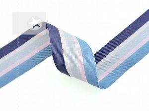 Ripsband gestreift Hoodieband aqua