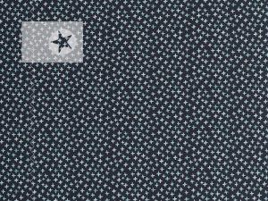 Jersey Stoff Kreuze anthrazit graublau